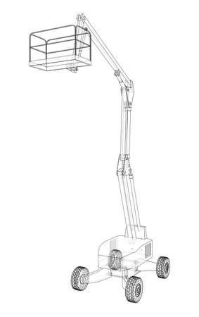 Aerial platform concept outline. Vector
