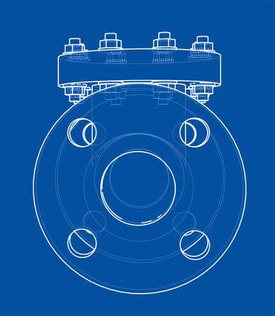 Industrial valve outline Stock fotó