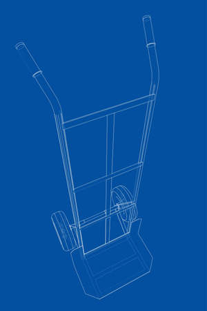 Outline delivery trolley or hand truck