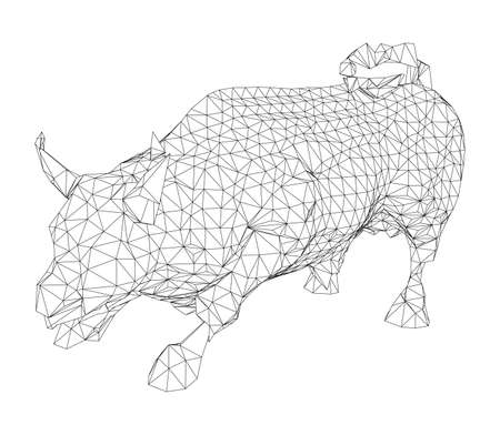 The Charging Bull. Vector Illustration