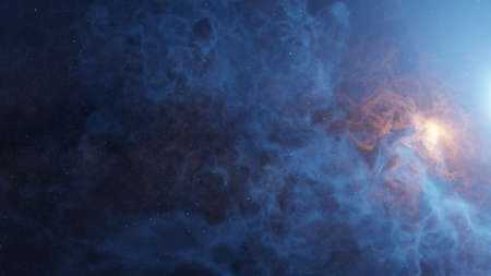 Color picture of the galaxy, blue nebula