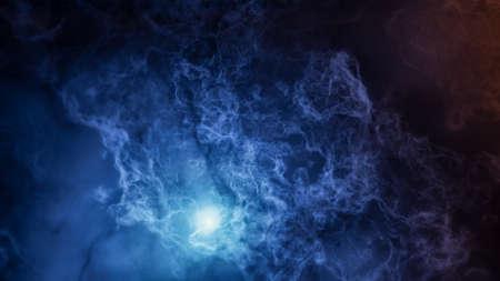 Color picture of the galaxy, multicolored nebula Standard-Bild