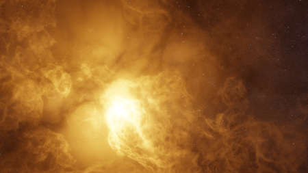 Color picture of the galaxy, orange nebula Standard-Bild