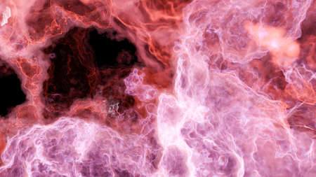Color picture of the galaxy, red nebula Standard-Bild