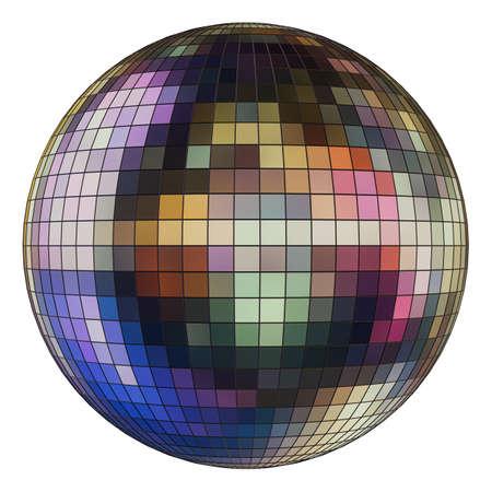 Disco ball with environment reflection