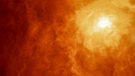 Abstract image of nebula, cosmic smoke and volumetric light
