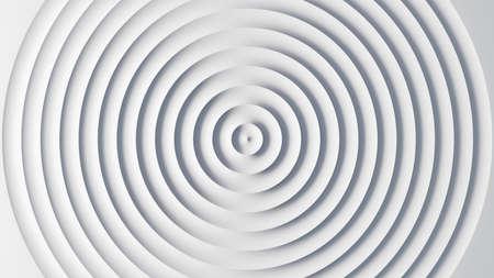 Circular waves on a white flat surface Standard-Bild