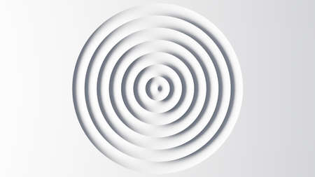 Abstract template of white circular waves