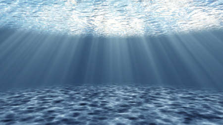 Tranquil underwater scene with rays of sunlight Imagens