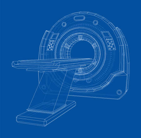 3d illustration of a MRI machine
