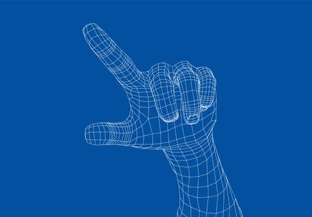 Human hand point with finger. Stock Illustratie