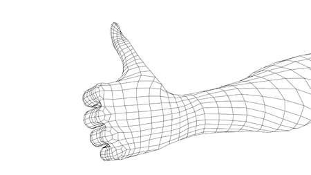 Thumb up hand sign.