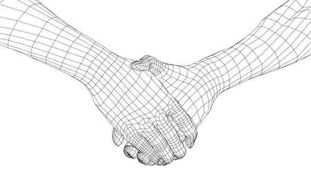 Man shaking hands. Stock Illustratie