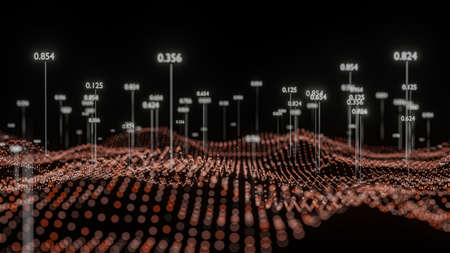 Big Data Visualization. Abstract structure Stockfoto