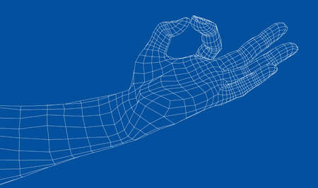 Hand OK sign. Stock Illustratie