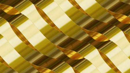 Gold stripes in waves.