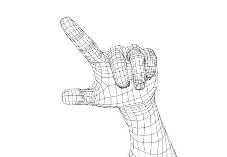 Human hand point with finger. Vector Stock Illustratie