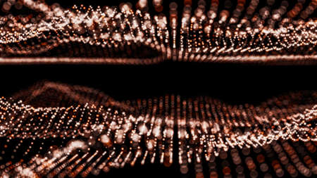 Abstract particles with depth of field