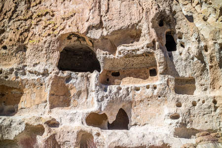 Cliff Dwelling Ruins in Bandelier National Monument, New Mexico