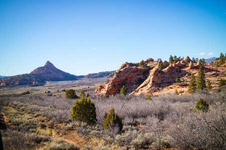 Mountain Ridges in Zion National Park, Utah