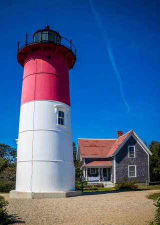 The Nauset Beach Light in Cape Cod National Seashore, Massachusetts