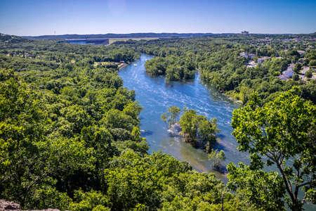 Table Rock Lake in Branson in het zuidwesten van Missouri Stockfoto