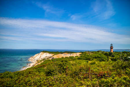 The famous Gay Head Cliffs in Cape Cod Marthas Vineyard, Massachusetts