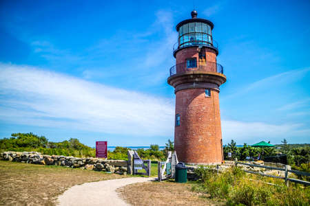 The famous Gay Head Light in Cape Cod Marthas Vineyard, Massachusetts