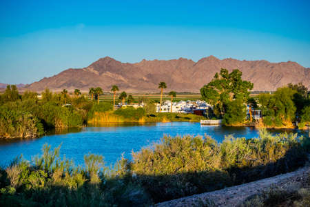 The famous Yuma Lakes in Yuma, Arizona
