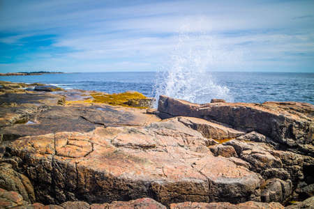 Schoodic Point in Acadia National Park, Maine
