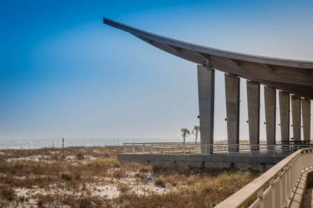 A Beach Pavilion in Gulf Shores, Alabama Stock Photo