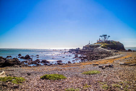 The Battery Point Lighthouse in Redwood National and State Parks, California Stock Photo