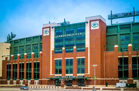 Green Bay, WI, USA - June 16, 2018: The huge Lambeau Field Atrium athletic stadium