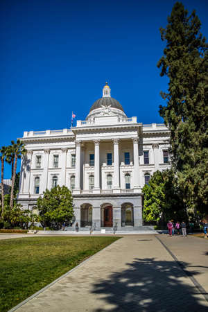 Sacramento State Capital, CA, USA - October 4, 2017: The California State House State Capitol