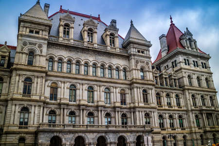 Albany, NY, USA - July 28, 2018: The New York House State Capitol Redakční