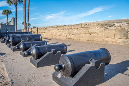 St Augustine, FL, USA - Feb 7, 2019: The Castillo de San Marcos Citadel Editorial