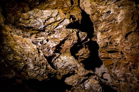 A Boxwork geological formation of rocks in Wind Cave National Park, South Dakota