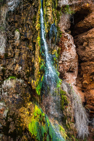 A small waterfall in Freedom Trail in Wind Cave National Park, South Dakota