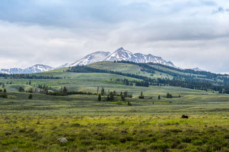 Epic mountain landscape scenery from the walking trail of preserve natural forest