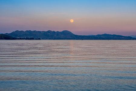 A Full Flower Moon in Lake Elsinore, California