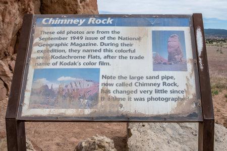 Kodachrome SP, UT, USA - May 22, 2020: The Chimney Rock