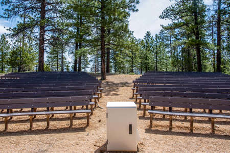 Bryce Canyon NP, UT, USA - May 23, 2020: The Ruby Inn outdoor ceremony 新聞圖片