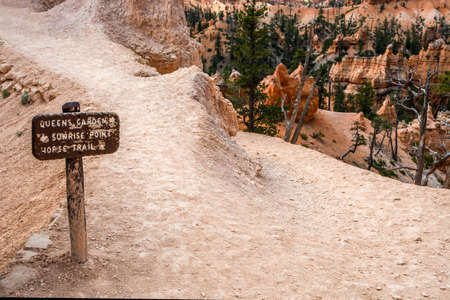 Bryce Canyon NP, UT, USA - May 23, 2020: The different kinds of trials going to its scenic destination 新聞圖片