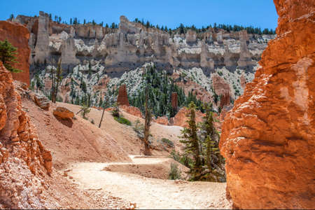 A gorgeous view of the landscape in Bryce Canyon National Park, Utah