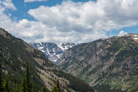 An overlooking view of nature in Custer National Forest, Montana