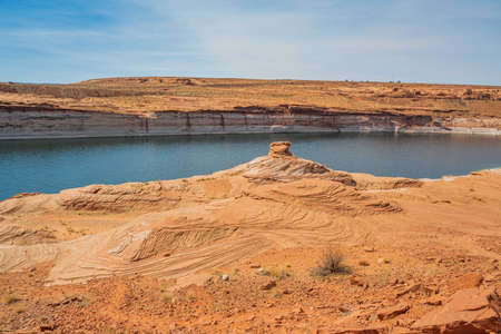A man-made reservoir with a large refreshing flow of water in Colorado River