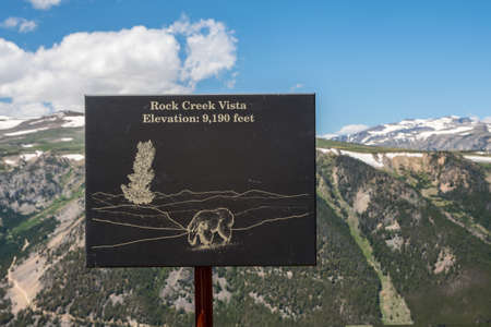 Custer National Forest, MT, USA - July 6, 2020: The Rock Creek Vista Point Elevation