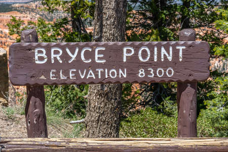 Bryce Canyon NP, UT, USA - May 25, 2020: The Bryce Point Elevation