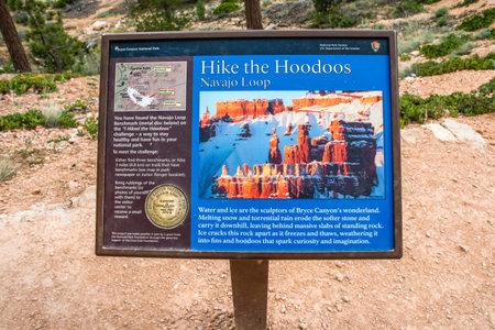 Bryce Canyon NP, UT, USA - May 29, 2020: Hike the Hoodoos Navajo Loop