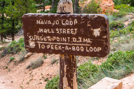 Bryce Canyon NP, UT, USA - May 29, 2020: The different kinds of trials going to its scenic destination 新聞圖片